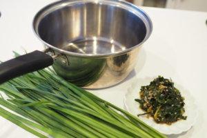 和え物には薄い鍋